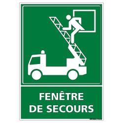 Panneau FENTRE DE SECOURS (B0390)