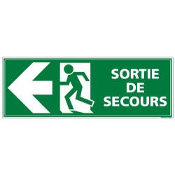 Panneau SORTIE DE SECOURS (GAUCHE) (B0392)
