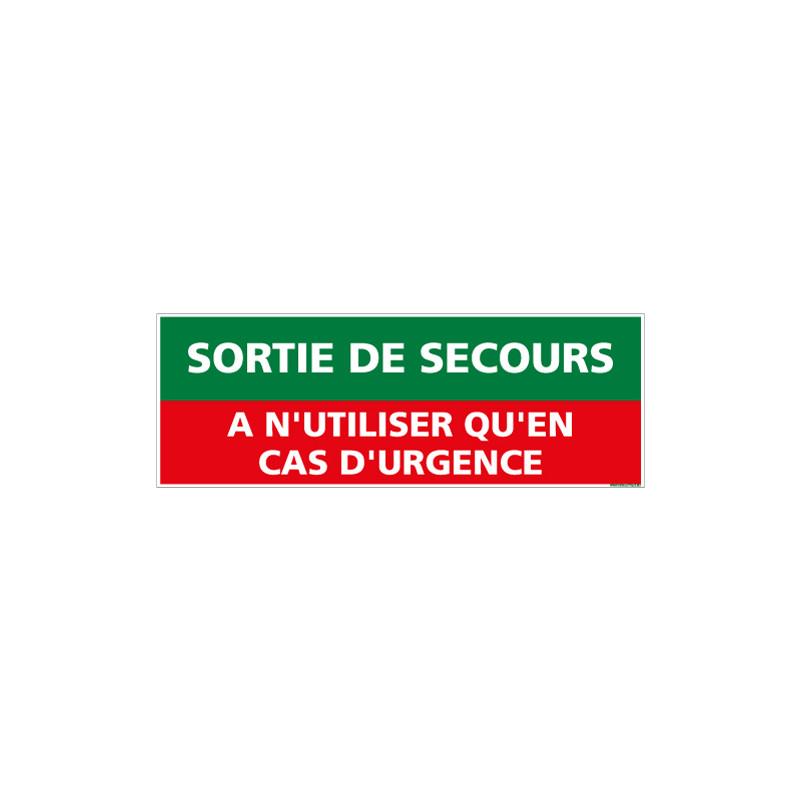 Panneau SORTIE DE SECOURS URGENCE (B0397)