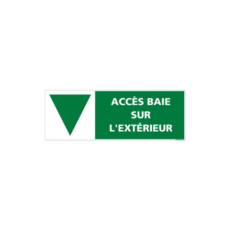 SIGNALISATION ACCES BAIE SUR EXTERIEUR (B0399)