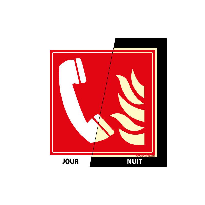 PANNEAU DE SIGNALISATION TELEPHONE INCENDIE PHOTOLUMINESCENT (A0030-PHO)