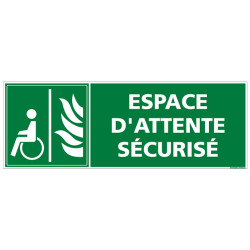 PANNEAU ESPACE ATTENTE SECURISE (B0401)