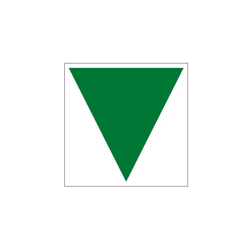 SIGNALISATION TRIANGLE BAIE ESPACE ATTENTE SECURISE (B0407)