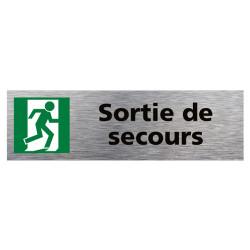 PLAQUE DE PORTE SORTIE DE SECOURS (Q0386)