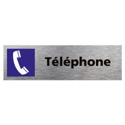PLAQUE DE PORTE TELEPHONE (Q0390)