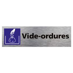 PLAQUE DE PORTE VIDE-ORDURES (Q0392)
