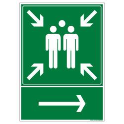 Panneau Point de rassemblement a DROITE (B0424)