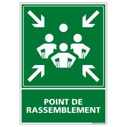 PANNEAU POINT DE RASSEMBLEMENT HANDICAPE (B0426)