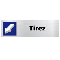 Lot de 2 plaques de porte Tirez / Poussez (Q0437)