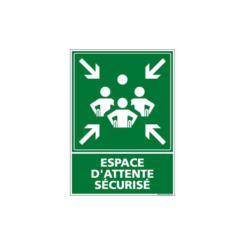 PANNEAU ESPACE D'ATTENTE SECURISE (B0427)