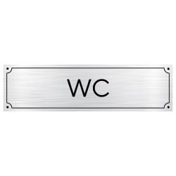 Plaque de porte pour WC (GRAV0003)