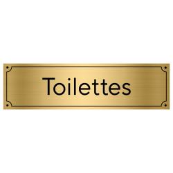 Plaque de porte pour toilettes (GRAV0005)