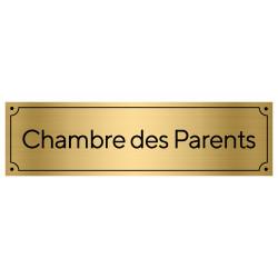 Plaque de porte pour la chambre des parents (GRAV0007)