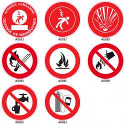 Panneau et Pictogramme Signalisation securite et prevention incendie