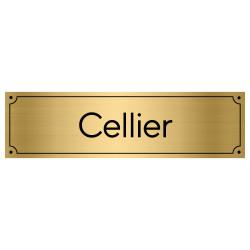Plaque de porte pour cellier (GRAV0010)
