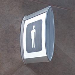 Drapeau signalisation mural double face (WCDM120A)