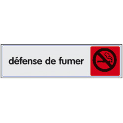 Plexiglass classique défense de fumer (2818) A l'unité
