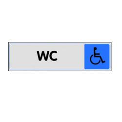 PLAQUE PLEXIGLASS WC HANDICAPES (W40333693) A l'unité