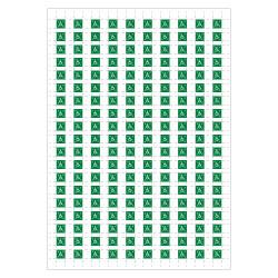PLANCHE A4 DE 190 PICTOS ADHESIFS DE 10 X 10 MM POUR PLAN D'EVACUATION (B0440)