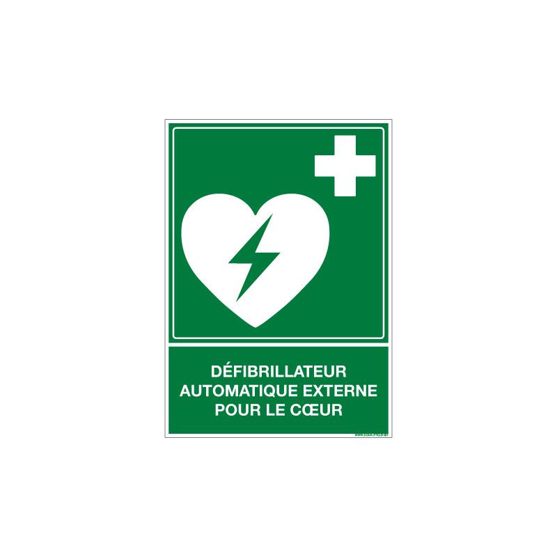 PANNEAU DEFIBRILLATEUR EXTERNE POUR LE COEUR (B0441)
