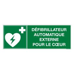 PANNEAU DEFIBRILLATEUR EXTERNE POUR LE COEUR (B0442)