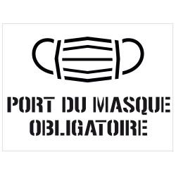 POCHOIR PVC PORT DU MASQUE OBLIGATOIRE (W1067)