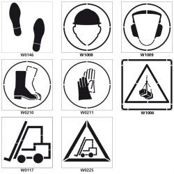 Pochoirs PVC pictogrammes industries