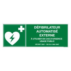 PANNEAU DEFIBRILLATEUR AUTOMATISE EXTERNE (B0446)