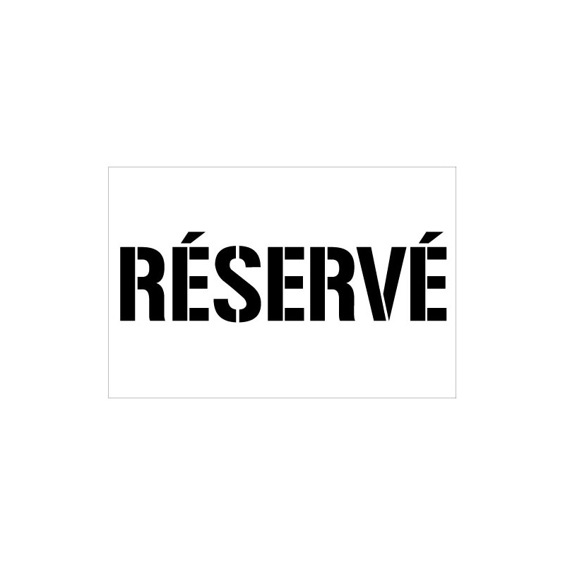 POCHOIR RESERVE (W0226)
