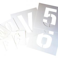 Pochoirs lettres ou chiffres