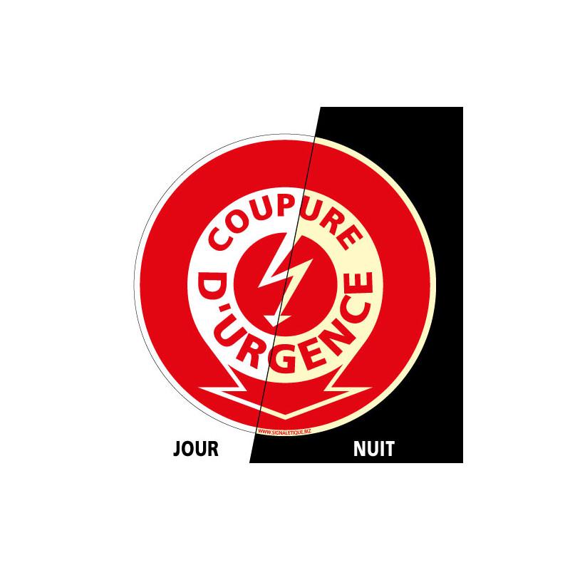 PANNEAU COUPURE D'URGENCE INCENDIE PHOTOLUMINESCENT (A0034-PHO)