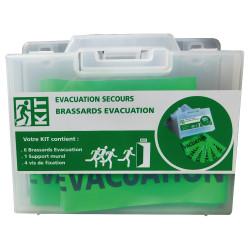 KIT BRASSARDS EVACUATION avec vis de fixation (WMALEVAC)