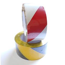 Adhésifs de signalisation en rouleau- 2 couleurs hachurées au choix