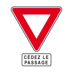Panneau et panonceau routier Cédez le Passage