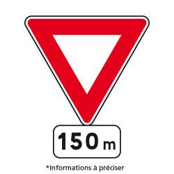 Panneau routier Signal avancé AB3b