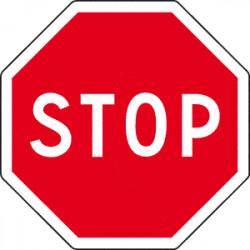 Panneau Routier - Signal d'intersection et de priorité - Type AB - STOP