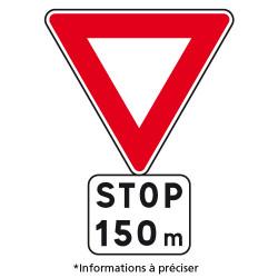 Panneau Routier - Signal avancé Ab5