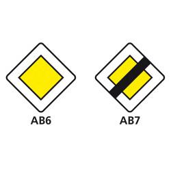 Panneau routier Signaux d'intersection et de priorité - Type AB