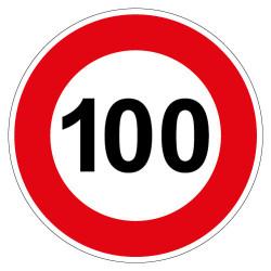 PANNEAU LIMITATION DE VITESSE 100KM/H (B14_GALVA_100)