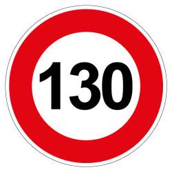 PANNEAU LIMITATION DE VITESSE 130KM/H (B14_GALVA_130)