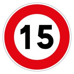 PANNEAU LIMITATION DE VITESSE 15KM/H (B14_GALVA_15)
