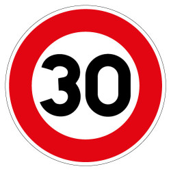 PANNEAU LIMITATION DE VITESSE 30KM/H (B14_GALVA_30)