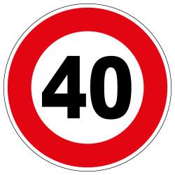 PANNEAU LIMITATION DE VITESSE 40KM/H (B14_GALVA_40)