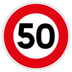 PANNEAU LIMITATION DE VITESSE 50KM/H (B14_GALVA_50)