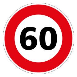 PANNEAU LIMITATION DE VITESSE 60KM/H (B14_GALVA_60)