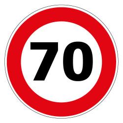 PANNEAU LIMITATION DE VITESSE 70KM/H (B14_GALVA_70)