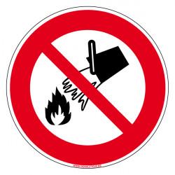 Panneau Incendie Defense d'eteindre avec de l'eau(A0038)