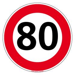 PANNEAU LIMITATION VITESSE 80 km/h