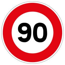 PANNEAU LIMITATION DE VITESSE 90KM/H (B14_GALVA_90)