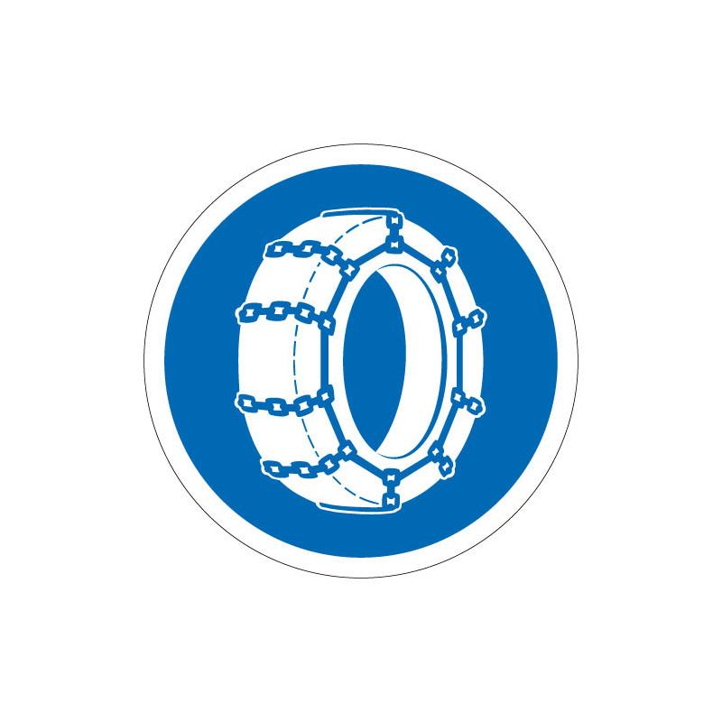 PANNEAU ROUTIER OBLIGATION PNEUS CHAINES (B26)